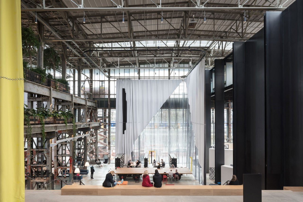 fig: Civic Architects_Lochal Library Tilburg_Textile Chamber