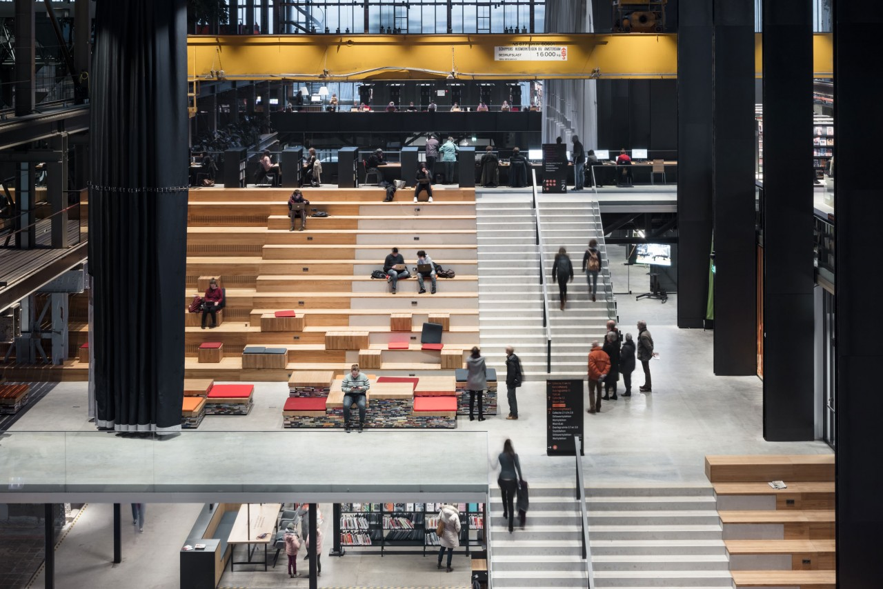 fig: Civic Architects_Lochal Library Tilburg_Stairs