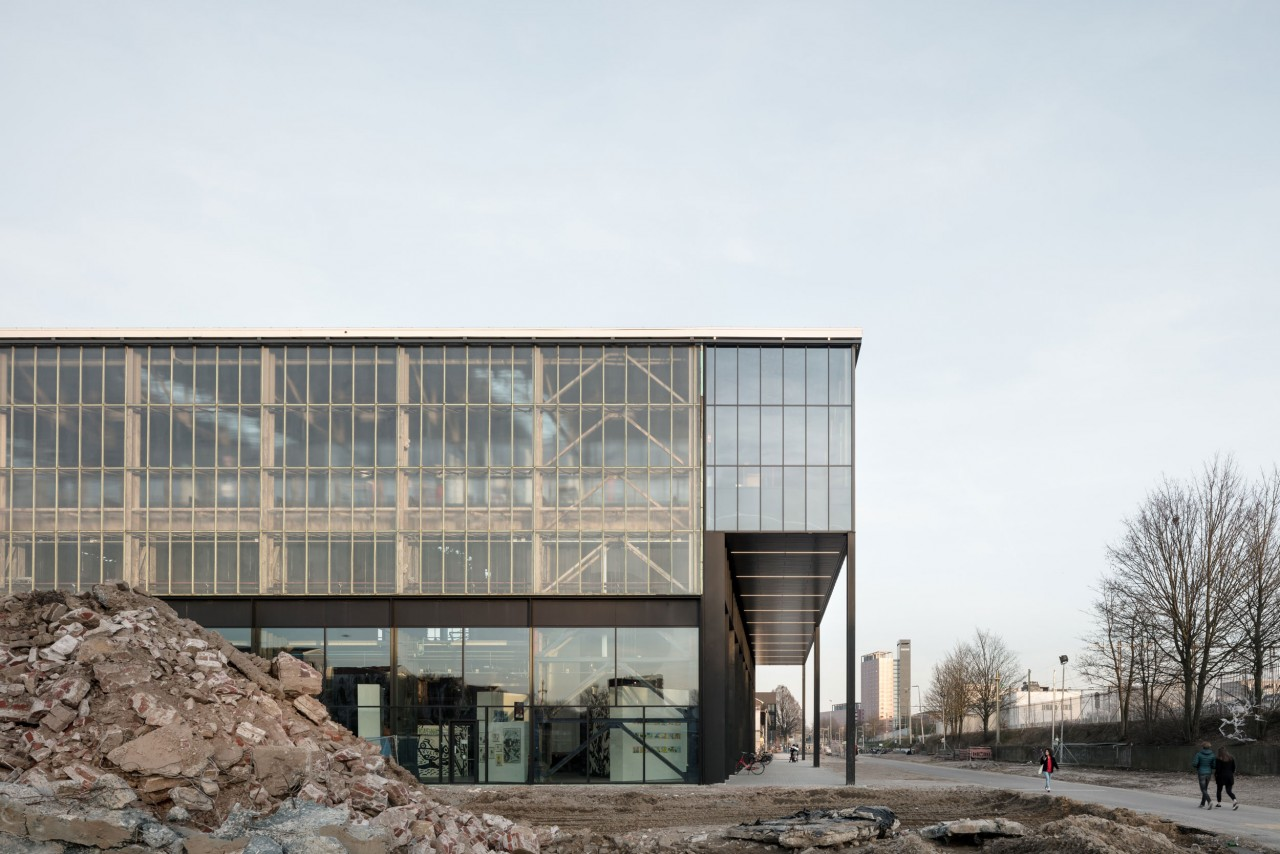 fig: Civic Architects_Lochal Library Tilburg_West Facade